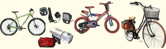 Bici da strada, bici per bambini, mountain bike e accessori