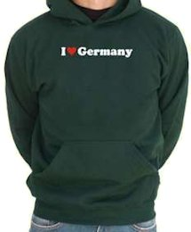 I love Germany - felpa uomo