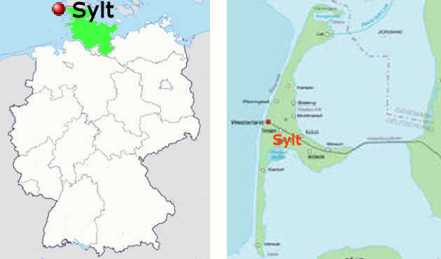 Carta stradale online dell'isola di Sylt